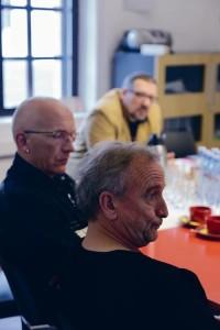 Vallo Nuust, Peeter Linnap ja Jaanus Eensalu (tagaplaanil).