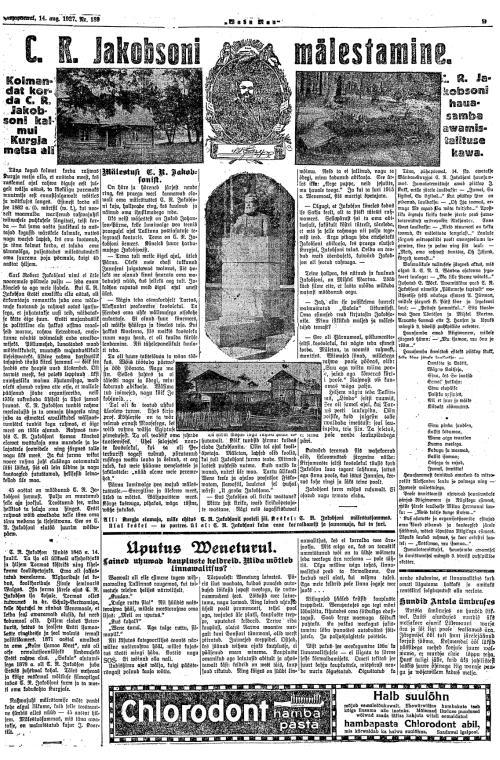 Waba Maa, 6. oktoober 1919.