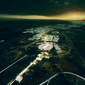 Euroopa uue osakeste kiirendi ESS projekt Rootsis, Lundis.  Henning Larsen Architects