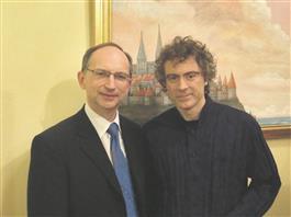 """""""Klaveri"""" kunstiline juht Lauri Väinmaa koos Paul Lewisega, keda võib pidada nüüdisaja üheks paremaks klassikatõlgendajaks."""