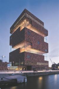 MAS (Museum aan de Stroom, 20 000 m2) Belgias Antwerpis. Neutelings Riedijk Architecten, 2010. Hoonele anti Belgia parima teraskonstruktsiooni auhind (2012).