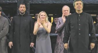 Ain Anger, Jelena Maksimova, Ferruccio Furlanetto ja Semjon Bõtškov tänuliku publiku ees.