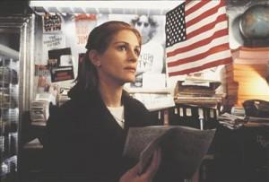 """Julia Robertsi hirvesilmad Richar Donneri põnevikust """"Konspiratsiooniteooria"""" (1997), kust võib leida järgmise dialoogikatkendi: Kas sa võid seda kuidagi tõestada?  Ei. Muidugi mitte. Sest vandenõu ei saa tõestada. Kui seda oleks võimalik tõestada, siis on nad kuskil midagi valesti teinud. Nad? Nad? Nad! Ma ei tea, kes nad! Sellepärast ma ütlengi nad!"""