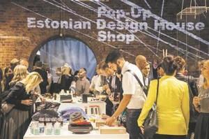 Eesti disaini pop-up-pood Londonis Hoxtoni galeriis.