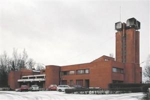 Viljandi tuletõrjedepoo. Arhitekt Toomas Rein, 1977.  Vaade hoone põhjaküljele (detsembris 2011).