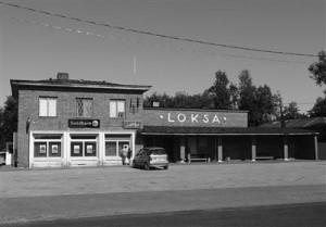 Loksa bussijaama hoone, ehitatud aastal 1939.