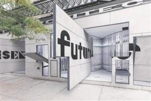 Storefronti galerii New Yorgis Soho linnajaos. Arhitektid Vito Acconci ja Steven Holl, 1992. Fassaadi 12 liigutatava paneeli tõttu saab galeriiruumi ühendada soovi korral tänavaga.
