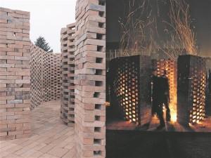 Ungari arhitekti ja õppejõu András Csehi juhendatud töötoa käigus ehitasid lapsed koos arhitektuuritudengitega  oma kodukülla tellistest kokkusaamise ja koosolemise koha.