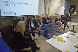 Uuringu esitlusele järgnenud arutelul said sõna Triin Lääne, Andres Laisk, Marten Lauri,  Andrus Saliste, Madle Lippus ja Peeter Vihma.
