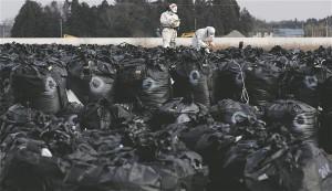 Iga päev puhastavad töölised purunenud Fukushima tuumajaama lähistel Tomiokas veega teid, küürivad maju, lõiguvad oksi ning eemaldavad saastunud pinnast, mis plastkottidesse pakitult ümbruskonda jäetakse. Kohalikud on vihased, sest valitsus kavatseb 30 miljonit tonni radioaktiivselt saastatud jäätmeid sel viisil mahajäetud põldudele ja parklatesse paigutada.