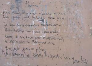Grafiti ühe Tallinna vanalinna maja seinalt.