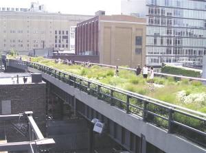 Kui autod enam nii palju ruumi ei võtaks võiks Ülemiste ristmikust saada rippuv aed. Vanale raudteele asetatud High Lane park New Yorgis.
