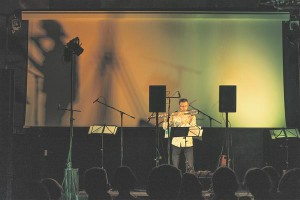 """Tarmo Johannes kontserdil """"Kuula!""""."""