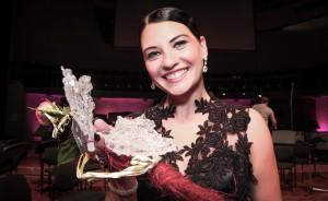 2013.aastal toimunud VIII Taevi-konkursi võitja Leedu sopran Jomante Šležaite. Foto Ants Liigus