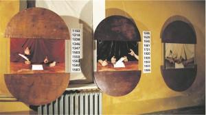 Marco Laimre. Jagatud territooriumid. Installatsioon, 1995.