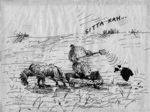 """8. mail 1987. aastal ilmus Sirbis ja Vasaras organite väga valvsa silma all Eesti kõigi aegade tuntuim karikatuur, Priit Pärna """"Sitta kah!""""."""