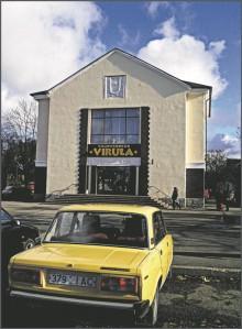 """Kaduvad kinod. Kohtla-Järve kinoteatrist """"Pobeda"""" sai ideoloogilise reformimise käigus sobivalt kaubakeskus """"Virula""""."""