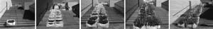 """Kodutute aedade järelelu Kumu õuel (2013). Autorid Katrin Koov, Maria Pukk ja Ivar Lubjak, kaasa töötasid EKA ja EMÜ üliõpilased. Installatsioon valmis Tiina Tammeti ja """"Teeme ära!"""" talguliste abiga."""