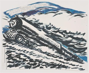 Raymond Pettibon. Nimeta (See kõik oli ...). 2012, tušš ja akrüül paberil.  David Zwirneri (New York / London) ja  Regen Projects (Los Angeles) loal.