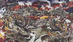 Eerik (Erich) Haamer [17. II 1908 – 4. XI 1994] Põhjapõdrad. Õli, lõuend. 1957.