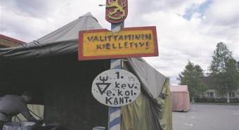 Virisemine keelatud! Pildike Sodankyläst.