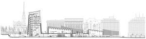 Helsingi Guggenheimi arhitektuurivõistluse võitis Pariisi arhitektibüroo Moreau Kusunoki Architectes, kes oli muuseumi vorminud kutsuvaks üheksa paviljoniga  klaasist ning mustaks ja hõbedaseks võõbatud söestatud puidust kompositsiooniks Helsingi rannajoonel.