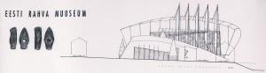 """Detail Tanel Tuhali ja Ra Luhse ERMi arhitektuurikonkursi võidutööst """"Põhja Konn""""."""