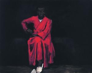 Lynette Yiadom-Boakye.  Määramatu hulk mõttesse vajumisi. 2010, õli, lõuend.
