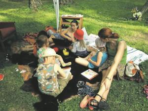 Lugemispesa Võtikvere raamatukülas.