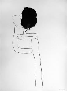 """Rootsi-Iraagi kunstniku Ahmed Modhiri """"Pealkirjata II"""" (2014, tušš) mõjub õudusanimatsiooni kaadrina."""