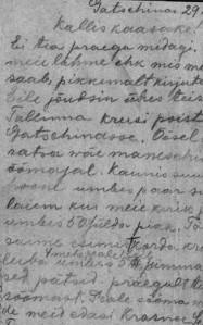 """Mart Meinvaldi kiri koju. Repro raamatust """"Eestlased ilmasõjas""""."""