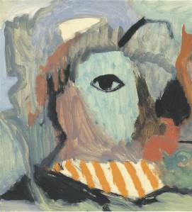 Lüüdia Vallimäe-Mark. Silm rohelises. 1958(?), õli. Erakogu.