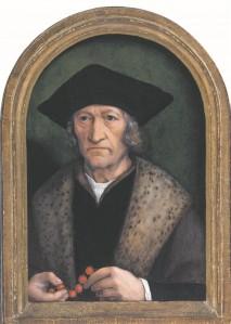 Michel Sittow (atribueeritud). Mees palvehelmestega. Umbes 1520.