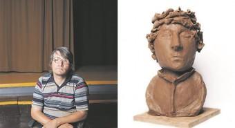 Autoportreede projektis palus läti kunstnik ja kunstiõpetaja Iveta Vaivode Strazdumuiža küla elanikel  modelleerida savist autoportree.