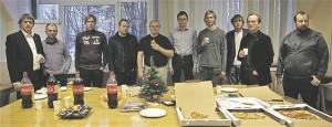 ESTCube-1 meeskord. Paremalt teine Mart Noorma.
