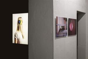 Vaade Alissa Nirgi isikunäitusele EKA galeriis.