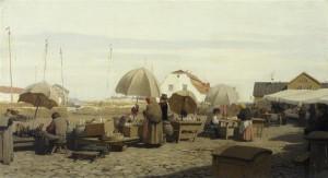 Oskar Hoffmann (1851-1912). Taru turg. Õli, lõuend, 1880. aastad.