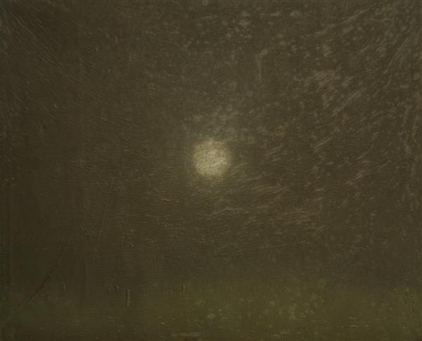 Andres Koort. Kuu. Segatehnika, lõuend, 2013.