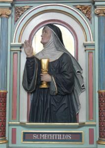 Peter Paul Metzi skulptuur Magdeburgi Mechthildist.