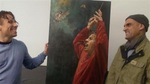 Pärast kontserti oli dirigendi toas väike tseremoonia, kus Iraagi põgenik Khalid Waleed Al Aloosi andis Kristjan Järvile üle portree.