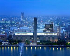Tate Modern avab 2016. aasta 17. juunil uue Herzogi ja de Meuroni projekteeritud üheteistkümne korrusega juurdeehitise, millega laieneb muuseumi ekspositsioonipind poole võrra.