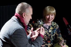 """Eesti Draamateatri """"Julia ja Romeo"""". Paraku paistis silma, et Martin Veinmann ja Kersti Kreismann oleksid vajanud veel prooviaega (loe: lavastajat)."""