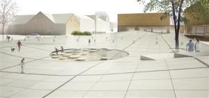 """Maastikuarhitektide liidu aasta tegu """"EV 100"""" arhitektuuriprogramm """"Hea avalik ruum"""", arhitektide liit. Pildil Rapla keskväljaku ja linnaruumi arhitektuurivõistluse võidutöö """"Holly"""" (autor Siiri Vallner)."""