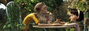 """""""Väikese printsi"""" üheks meeldejäävamaks episoodiks on vana lenduri ja väikese tüdruku tutvumine."""