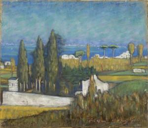 Ants Laikmaa. Capri maastik.  Pastell, 1910.