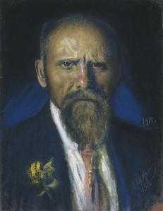 Ants Laikmaa. Autoportree. Pastell, 1918.