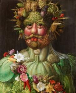Arcimboldo. Vertumnus. Õli, tahvel. 1590.