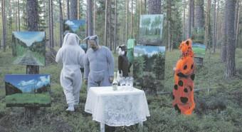 Kunstiteadlane ja kunstnik, aga ka looduskorraldust õppiv Mari Kartau otsustas kunsti loodusesse viia ning korraldas  2012. aastal näituse loomadele.