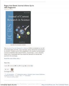 Rämpsajakirjad ja publitseerimispetturid on leidlikud, maskeerivad end sageli võõraste sulgedega ning on isegi kaaperdanud soliidse ajakirja pealkirja ja kujunduse.  www.scholarlyoa.com 9. II seisuga