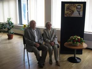 Ülo Lepik abikaasaga juubelinäituse avamisel 2011. aastal.